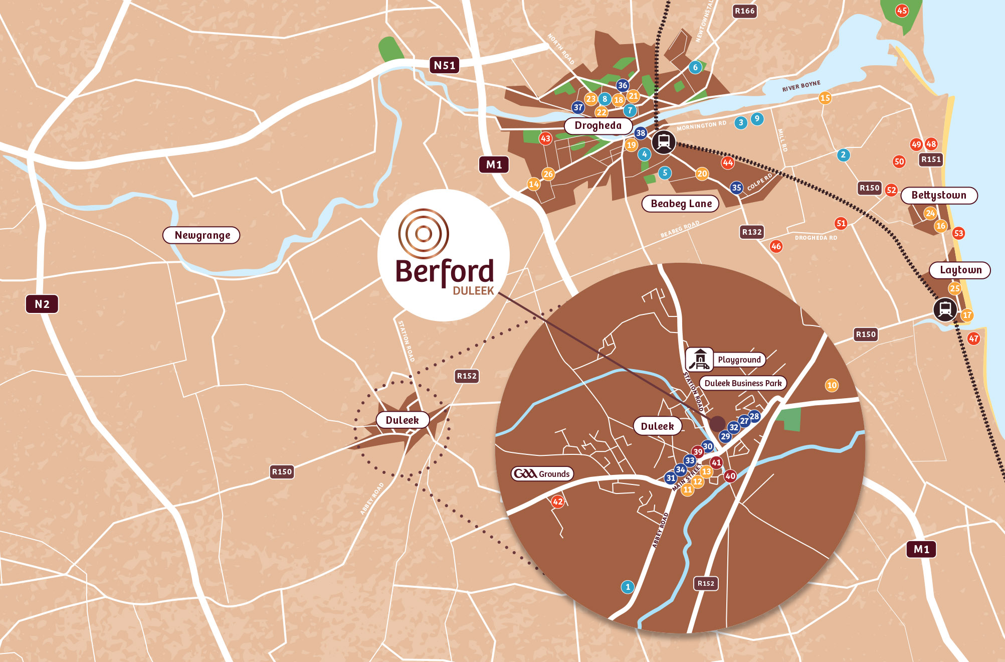 Berford location map